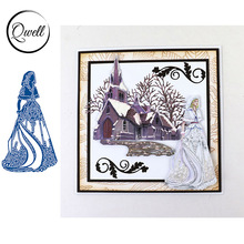 QWELL Pretty Girl Metal Cutting Dies for Scrapbooking and Card Making Paper Embossing Craft New 2019 die cuts
