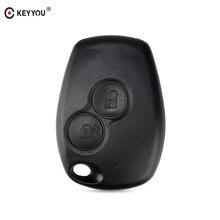 KEYYOU – Coque pour clé télécommande de voiture à 2 boutons Renault/Dacia, compatible Megane, Modus, Espace, Laguna, Duster, Logan, Sandero, Fluence, Clio, Kangoo