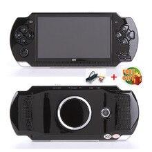 Frete grátis handheld game console 4.3 polegada tela mp4 jogador mp5 jogador de jogo real 8gb suporte para psp jogo, câmera, vídeo, e book