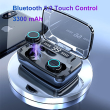 Наушник Bluetooth У5.0 СПЦ беспроводной пульт управления стерео Спорт наушники наушники гарнитура с коробкой зарядка для iOS андроид