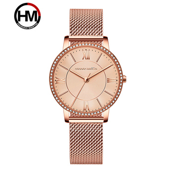 Hannah Martin Women Luxury Brand Watch Lady Simple Quartz Waterproof Wristwatch Female Fashion Casual Watches Clock reloj mujer