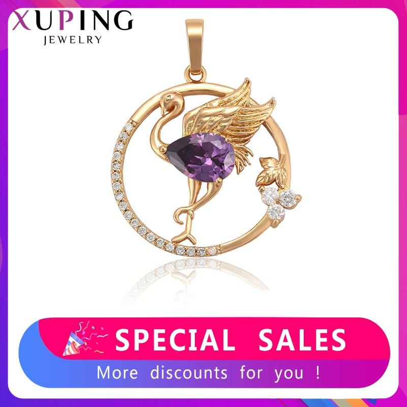 Xuping, модный кулон в форме животного, новый дизайн, цветной, для женщин, ювелирное изделие, позолота, для женщин, изысканный S233.6 35751        АлиЭкспресс