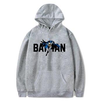 Hip Hop Hoodies Men Sweatshirts Batman Hoodie Sweatshirt Harajuku Top Black Streetwear Moletons Polerone Winter Clothes Women фото