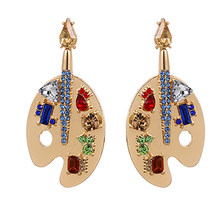 Zhini novo punk exagero brincos de ouro para as mulheres moda colorido cristal balançar brinco casamento na moda jóias 2021 brincos