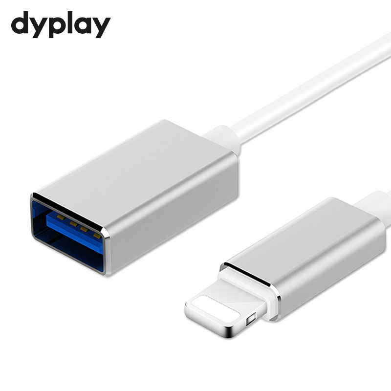 8Pin to USB Adapter Male To Female OTG Cable For iPhone iPad iPod iOS 9 to 13 With Microphone Keyboard Audio Device Interface