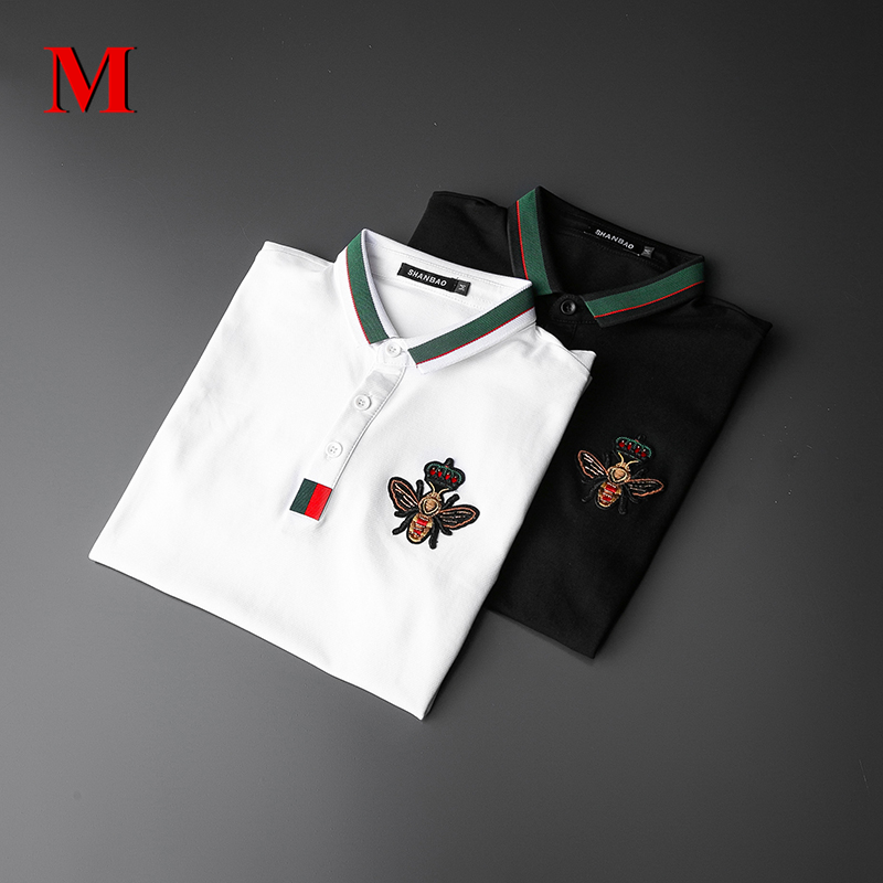MENNE 2020 New T Shirt Men Shirt Badge LOGO Embroidery Polo Shirt Men