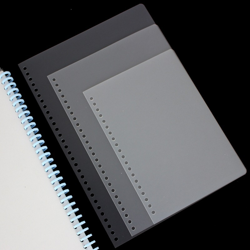 A4 Color Matte Binding Film PVC Plastic Cover Book Loose-leaf Cover Transparent Cover Cover Paper Office School Binding Supplies