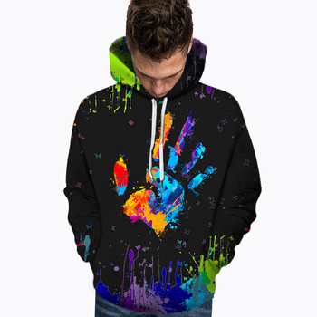 Men's Hoodies Palm Color Printing Men's New Autumn And Winter Fashion Palm Printed Hoodie Long Sleeve Blouse Мужские Комплекты 1