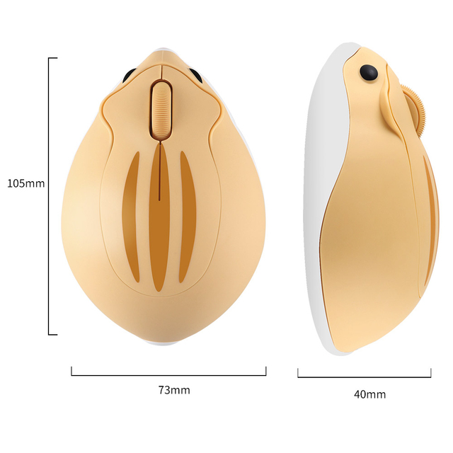 CHUYI 2.4G Wireless Optical Mouse Cute Hamster Cartoon Computer Mice Ergonomic Mini 3D Office Mouse For Kid Girl Gift PC Tablet 3