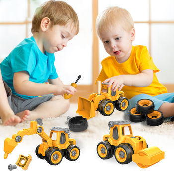 Fun Disassembly Assembly Small Engineering Car Model Puzzle Games Toys For Children Educational Kids Boys Nut
