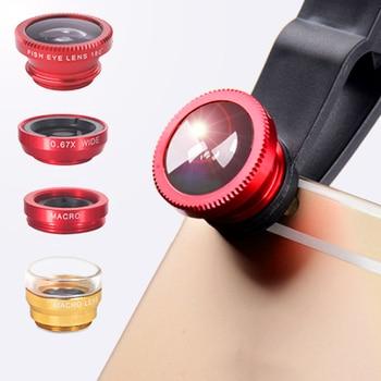Orsda Phone Lens Fisheye Lens 0.67x Wide-angle Zoom Fisheye Lens 6x Macro Lens Kit for Smartphones Phone Camera IPhones Samsung 1