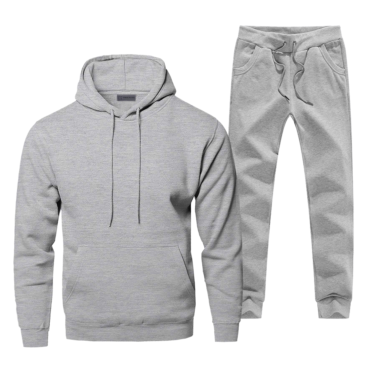 Solid Color Mens Full Suit Tracksuit Simple Style Sweatpants Hoodies For Men Pure Color 2 Piece Set Fitness Sets Warm Streetwear