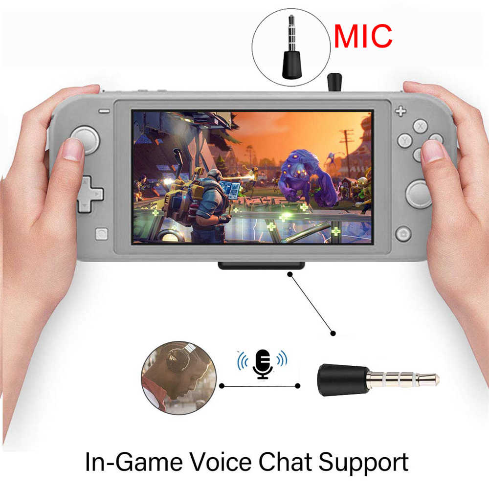 Asli Nirkabel Earphone Audio Transmitter Bluetooth Adaptor USB Tipe-C Dongle untuk Nintendo Switch Lite PS4 Xbox