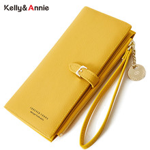 Wristband Wallet Women Many Departments Leather Wallets Clutch Ladies Long Purse Zipper Phone Pocket Card Holder Female Carteras цена 2017