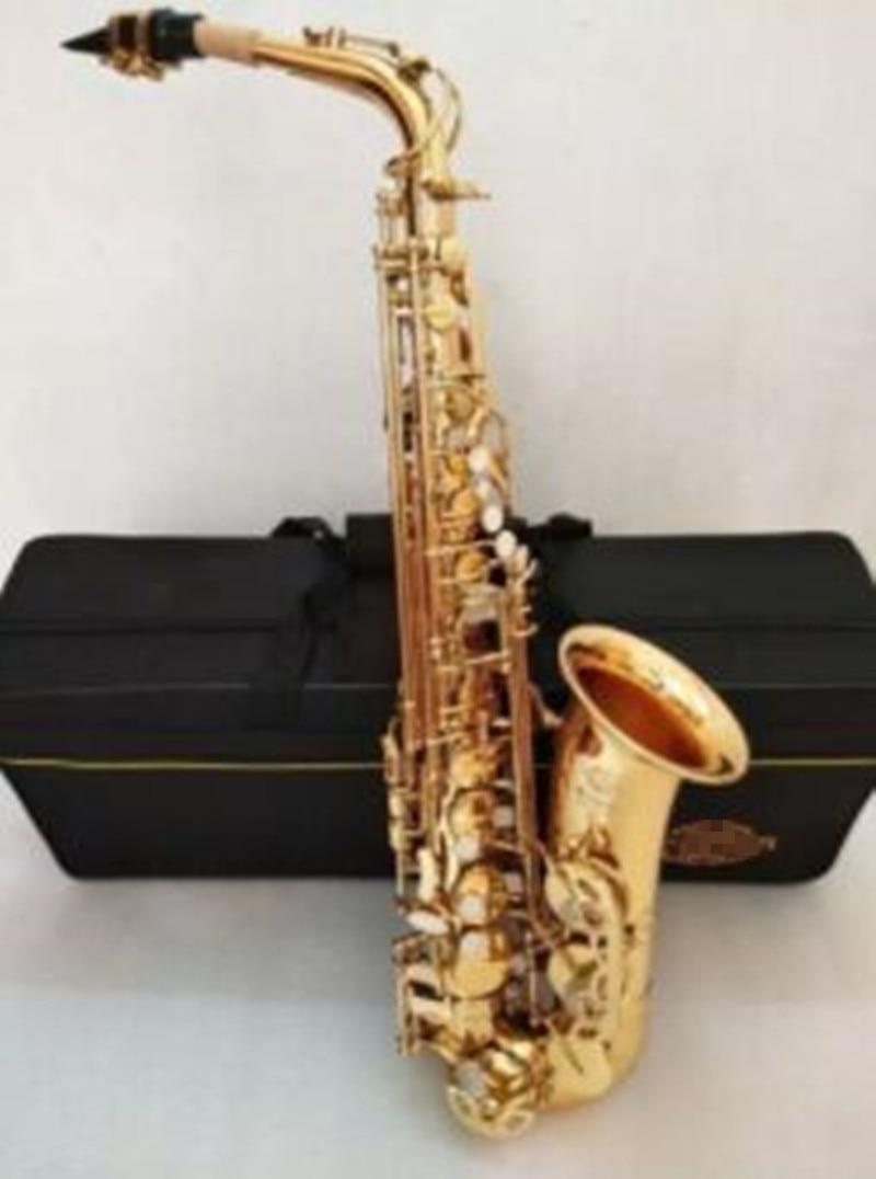 Hot sale Saxophone Alto engraved brass Super Action 80 Electrophores Gold Sax musical instruments professional Sax