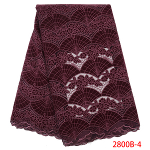 Image 1 - Wholesale Velvet Lace Fabrics New Arrival Fashion African Lace Fabric for Wedding Party High Quality Nigerian Mesh Lace APW2800B