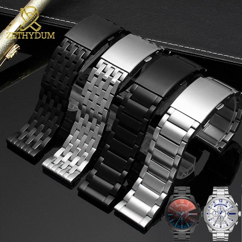 Stainless Steel Bracelet For Diesel DZ7263 DZ7330 DZ7395 DZ7305 DZ4209 DZ4215 DZ1844 Watch Strap Mens Solid Metal Watchband