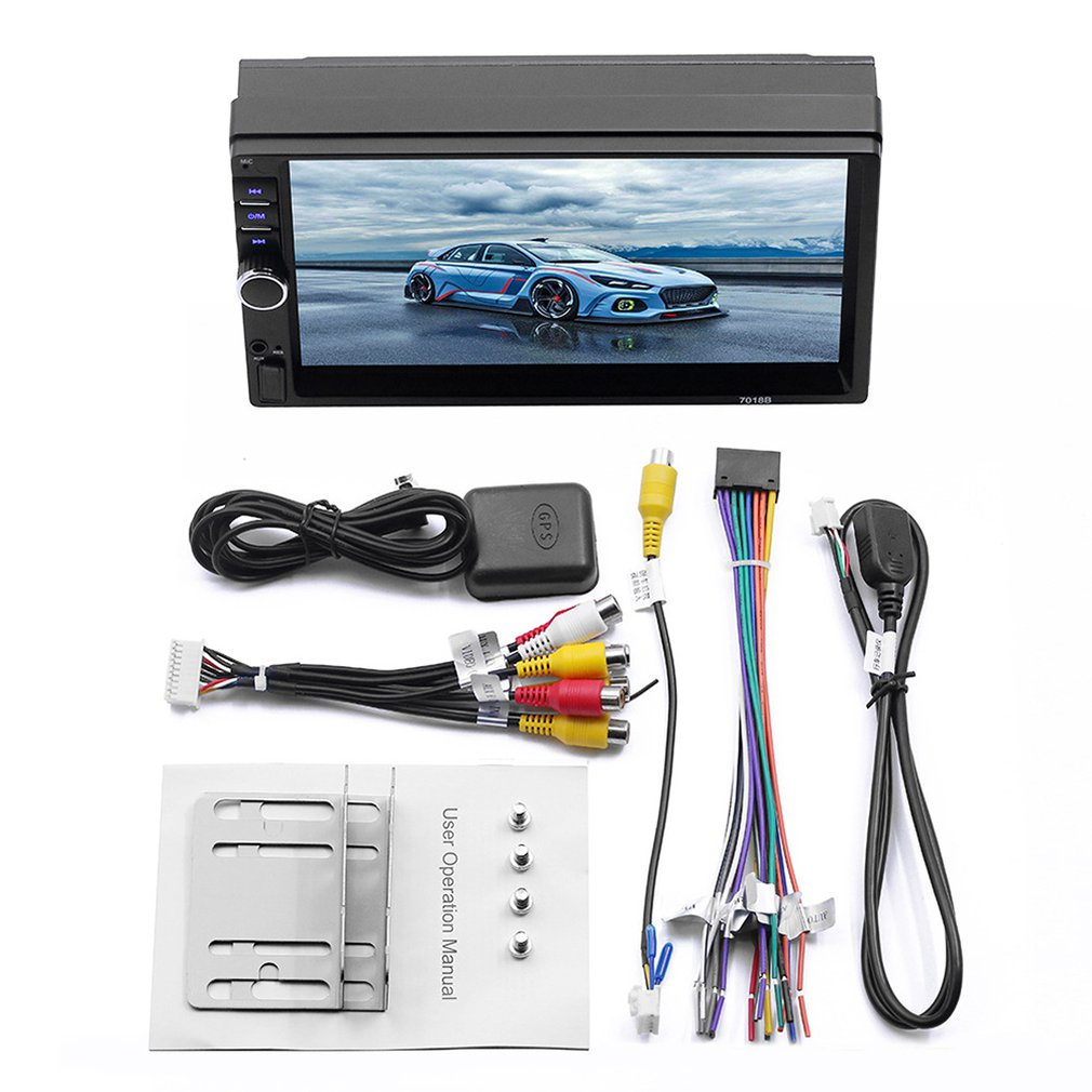 7 Inch Hd Car Wireless Mp5 Player Android System Gps Navigation Integrated Host Mobile Phone Interconnection