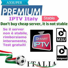 Stabiele IPTV M3u Abonnement Iptv Italië UK Duits Frans Spaans Axsuper Premium Voor Android Box Enigma2 Smart TV PC Linux(China)