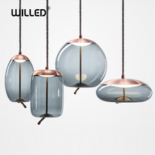 LED Hanging lamp glass…