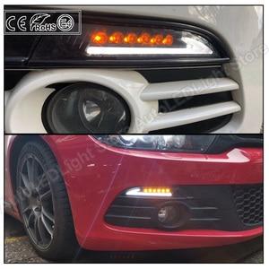Image 5 - 2x Rauch Objektiv LED Front Seite Marker Lichter blinker lampe (Bernstein) LED position lichter (Weiß) für VW Scirocco 2008 2013