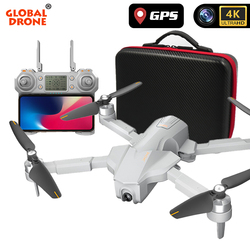 Global Drone 4K GPS Drones with 4K Camera HD Brushless Follow Me Professional Quadrocopter FPV Wifi Dron VS Visuo ZEN K1 F11 PRO