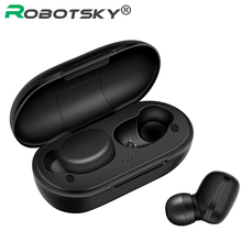 New A6X TWS Wireless Earphones Bluetooth 5.0 Automatic Pair Fingerprint Touch HD Stereo Headsets Noise Reduction for iOS&Android