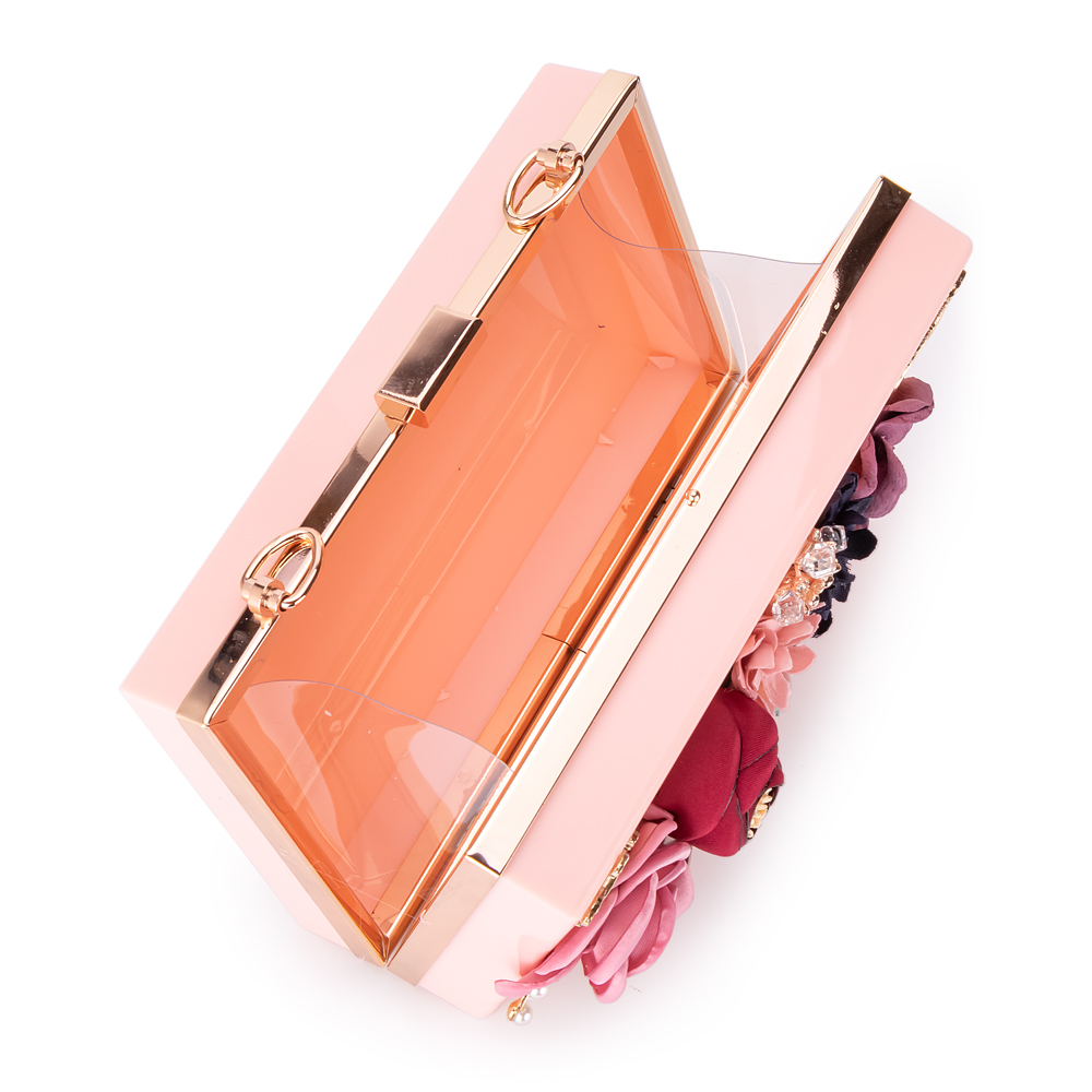 Women Acrylic Flower Clutches Purse Evening Bags Chain Strap H1322b0bc9dc347c19410277098f35dabv Bag