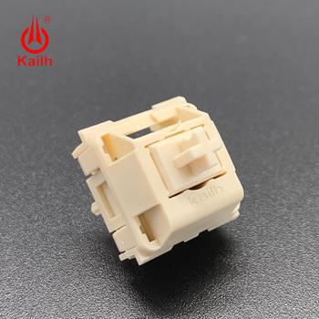 Kailh kremowa mechaniczna klawiatura liniowa hangfeeling MX przełącznik 5pin tanie i dobre opinie Brak