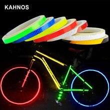 VTT accessoire autocollants réfléchissants cyclisme bande fluorescente vtt vélo ruban adhésif sécurité décor autocollant accessoires