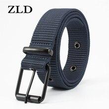 Cintura in tela ZLD cinture tattiche da uomo vendita uomo Sport all'aria aperta semplice tessuto pratico tela di Nylon pantaloni da Cowboy cintura da uomo