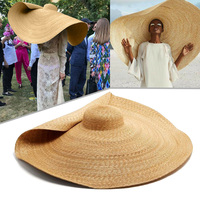 Women Lady Sun Straw Hat Wide Brim Cap Foldable Breathable for Summer Beach CX17