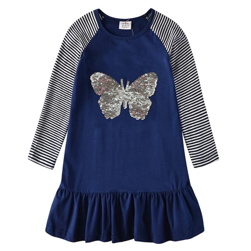 H13234723443346eda09acc24aeb4e625d VIKITA Girls Cotton Dress Long Sleeve Children Patchwork Vestidos Kid Dresses for Girls Clothes Toddlers Cartoon Princess Dress