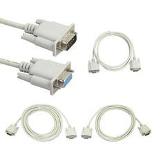 Conector adaptador RS232 DB9 de 9 pines macho a hembra para puerto Serial, Cable Industrial, Cable extensible para ordenador y PC