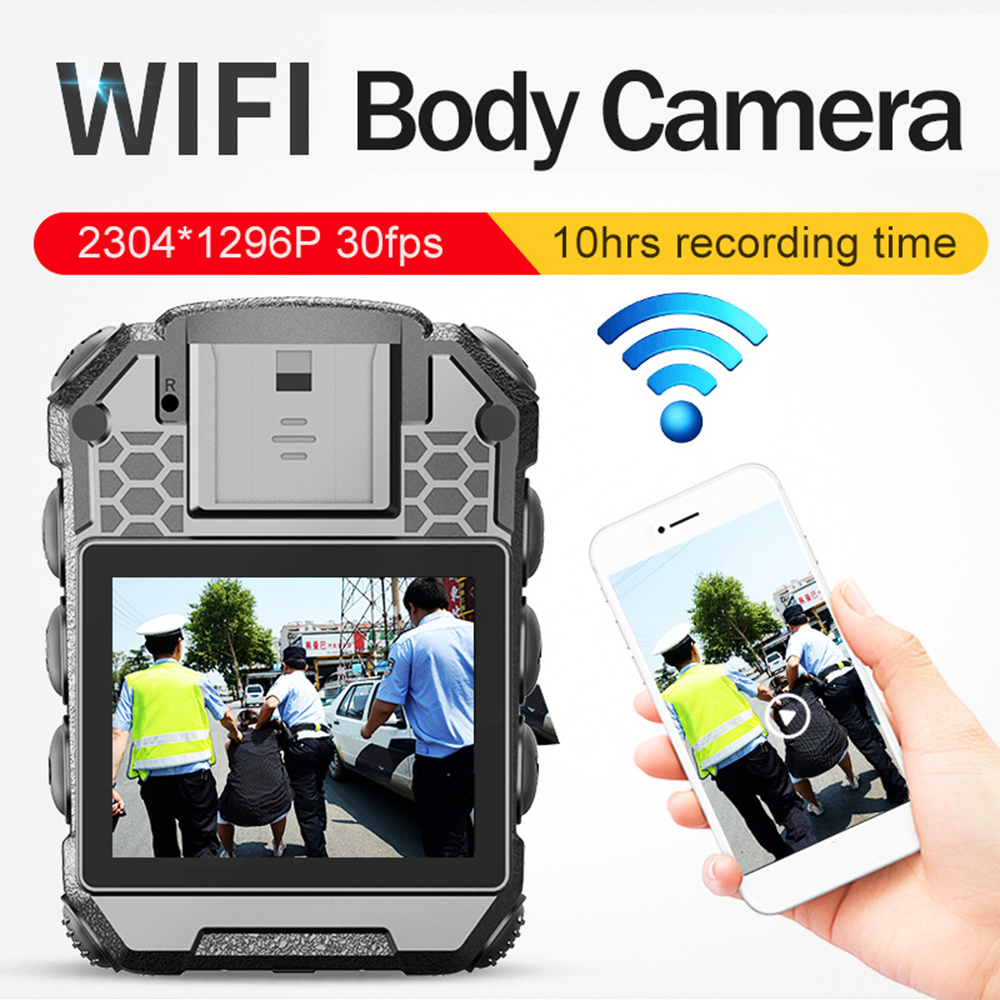 1296p 40MP 10hrs Recording time HD Car Body Camera WIFI AP DVR Video Voice Recorder Police mini DV Security Worn Cam waterproof image