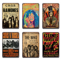 Guns N Roses Metal Poster Tin Sign Vintage Johnny Cash Metal Plaque Sign Pub Bar Wall Sign Sweet Home Room Wall Plate Decoration