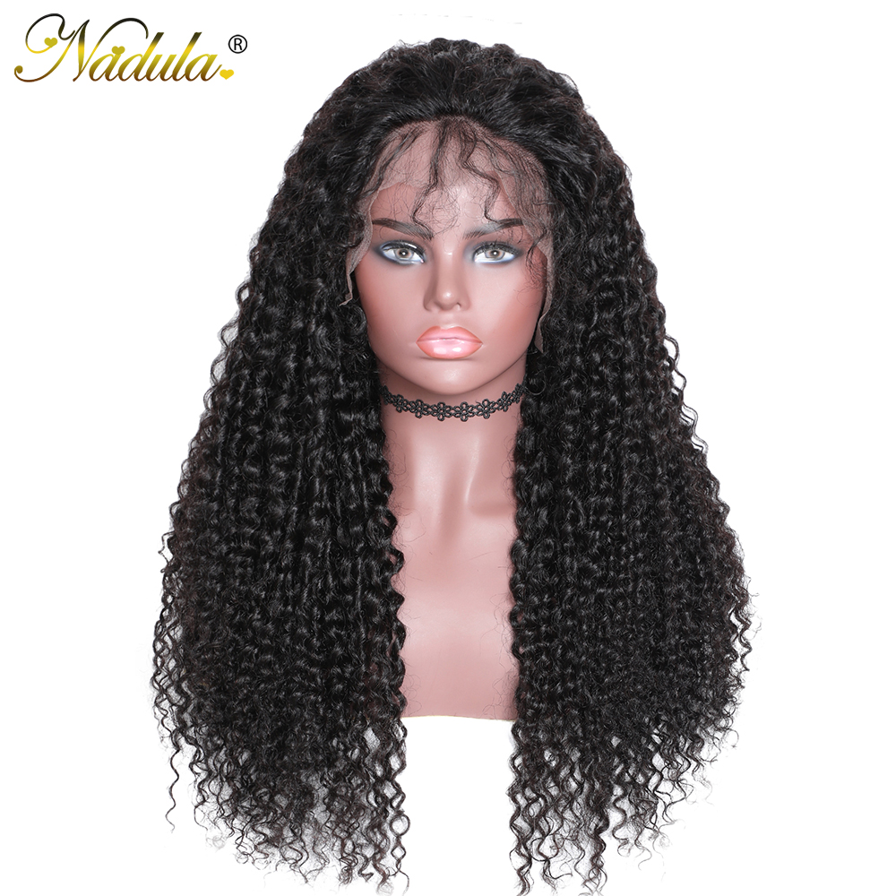 Curly Hair 13x6/4 Transparent Lace Wig Pre Plucked With Baby Hair 150% 180% Density Lace Front Human Hair Wigs Nadula Remy Hair