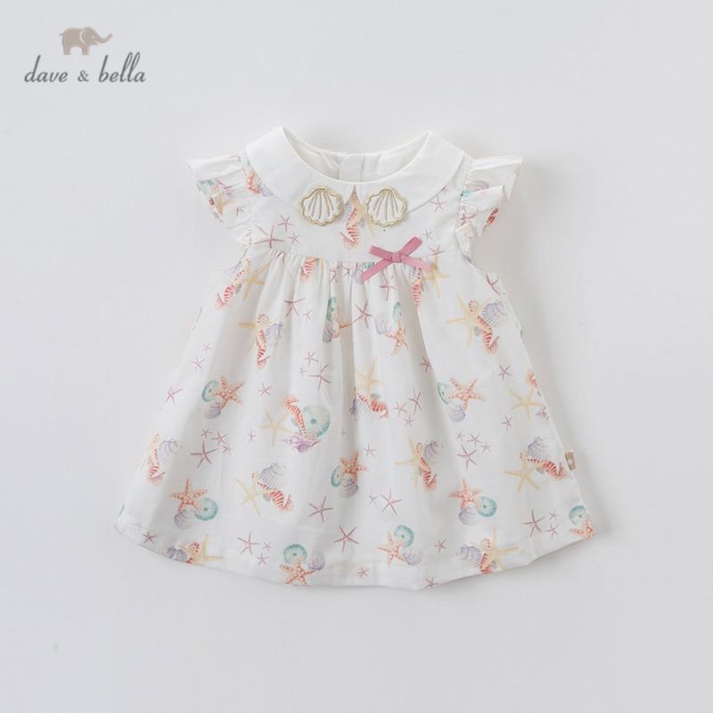 Dave bella/DBM13899 летнее платье для маленьких девочек с милым бантом и принтом, Детские Модные Вечерние Платья, детская одежда в стиле Лолита|Платья| | АлиЭкспресс