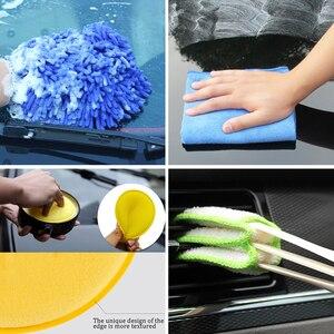 Image 5 - המפרט מברשת סט רכב ניקוי מברשות כוח Scrubber תרגיל מברשת לרכב עור אוויר פתחי אוורור רים ניקוי לכלוך אבק נקי כלים