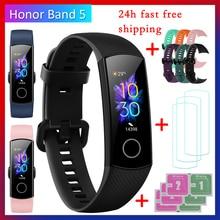 Honor מקורי להקת 5 חכם צמיד הגלובלי גרסה דם חמצן smartwatch AMOLED כושר צמידי לב קצב שינה tracker
