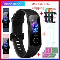 Honor-pulsera inteligente honor band 5, reloj inteligente deportivo con control del oxígeno en sangre y de la presión sanguínea, AMOLED, monitor de sueño y rítmo cardíaco