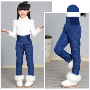 Image 3 - Girl Pants Winter 90% Down Thick Warm Ski Pants Girls Trousers Leggings Elastic High Waisted Kid Pant 3 16 Years