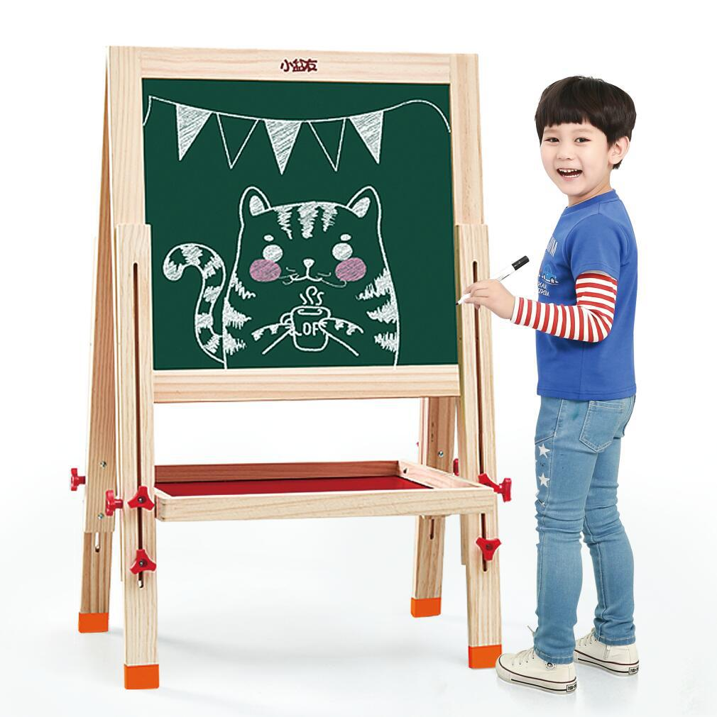 CHILDREN'S Drawing Board Household Small Blackboard/Solid Wood Braced Children Painted Educational Toy Wood Young STUDENT'S Gift
