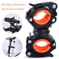 Liberação rápida suporte de luz da bicicleta led tocha lâmpada do farol bomba suporte suporte montagem ciclismo acessórios