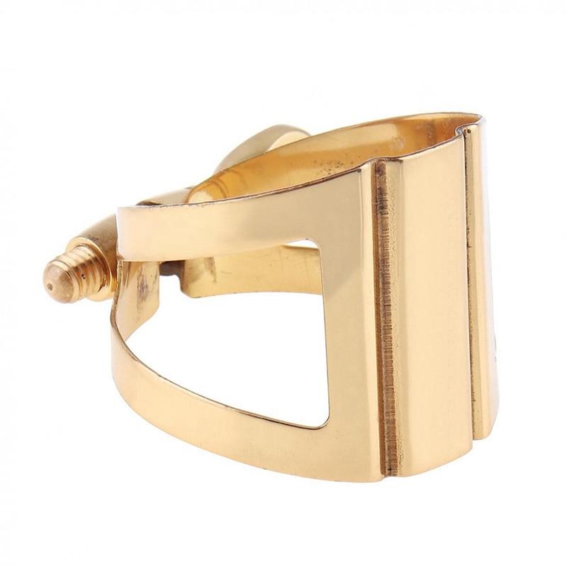 Saxophone Mouthpiece Ligature Gold -Plated Ligature Fastener For Rubber Mouthpiece