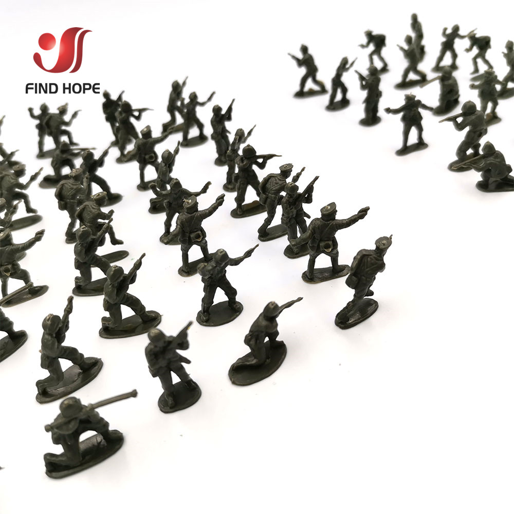 20pcs 1:72 Soldier Military Plastic Model Toy Army Action Figures Accessorie For Sandpan Game Random Model