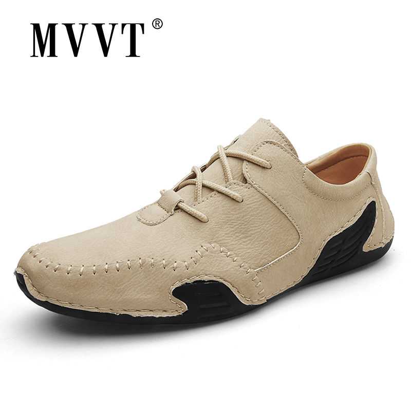 2020 New Comfortable Leather Men Loafers Breathable Casual Leather Shoe Men Flats Hot Sale Soft Driving Shoes Moccasins