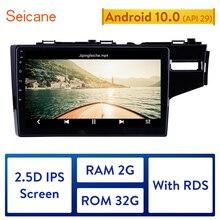 ซีเทอร์ GPS Autoradio HD Touchscreen เครื่องเสียงรถยนต์ Android 10.0 สำหรับ 2014 2015 HONDA JAZZ/FIT (RHD) สนับสนุน CarPlay DAB +
