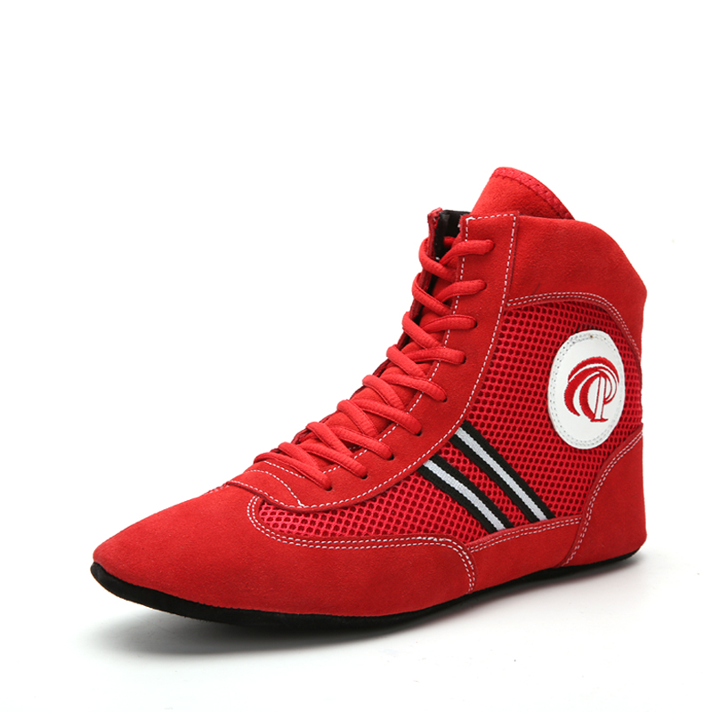 Mens Wrestling Shoes for Men Training Shoes Lace Up Boots Sneakers Professional Boxing Shoes Training Boxing Fighting Boots