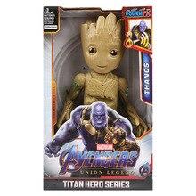 ผู้พิทักษ์มหัศจรรย์ของ Galaxy ปลูก Groot กัปตัน America Avengers Titan HERO Series Action FIGURE ของเล่นเด็ก